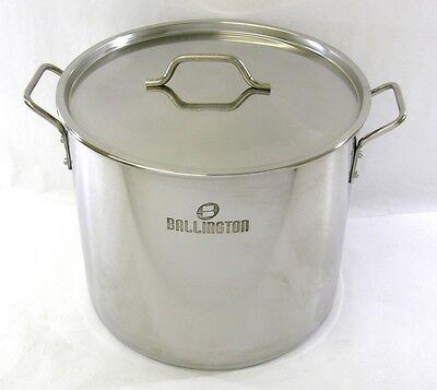 40 QT Quart 10 Gallon Stainless Steel Stock Pot Steamer Brew Kettle w/lid rack