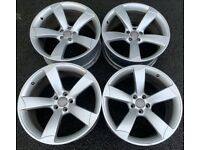 20'' GENUINE AUDI RS4 S LINE ROTOR BLACK EDITION DEEP CONCAVE ALLOYS ALLOY WHEELS A5 5X112