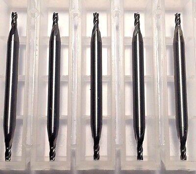 116 Dia X 18 Cut 4 Flute Double End Square Carbide End Mill Usa 5-pack C6