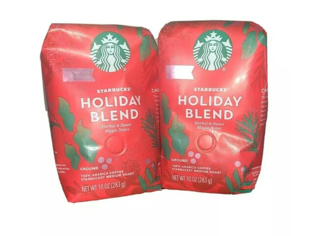2 Pk - Starbucks 2020 Holiday Blend Ground Coffee - 10 Ounce each