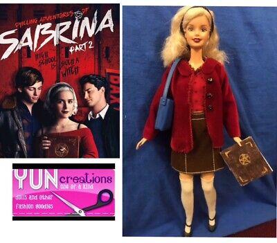 Chilling Adventures Of Sabrina Ooak barbie doll Custom Repaint Handmade Collect