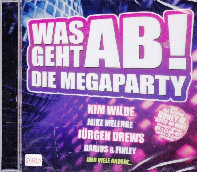 Was geht ab! Die Megaparty + CD + Fetenalbum mit 17 Partyhits Mixes zum Abfetzen