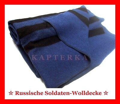 ☆ Original Russische Armee Soldaten-Wolldecke Felddecke Campingdecke Woll-Decke