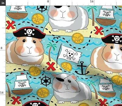 Guinea Pig Pirate Costume (Guinea Pig Pirate Skull And Crossbones Cute Fabric Printed by Spoonflower)