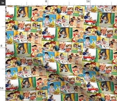 Hospital Medical Nurse Vintage Nancy Children Fabric Printed by Spoonflower BTY
