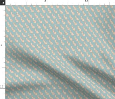 Penis Anatomy Science Blue Peach Humor Dick Fabric Printed by Spoonflower BTY