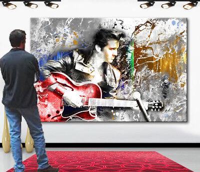 Elvis Presley Musik Abstrakt Deko Bilder auf Leinwand Kunst Wandbild xxl 2335A ()
