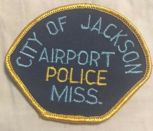 "vintage ""CITY OF JACKSON AIRPORT POLICE"" PATCH ms MISSISSIPPI LAW OFFICER rare"