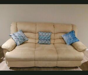 Must go cheap price! 5 seater Beige Suede Recliners