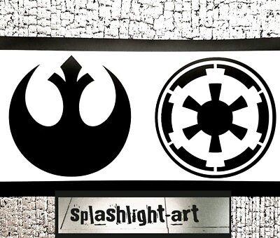 2x 10cm  Star Wars Rebel Alliance Empire Wall / Car Vinyl Sticker Decal