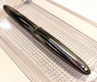 Sheaffer Lifetime White Dot 14k Nib Black and Abalone Calligraphy Fountain Pen