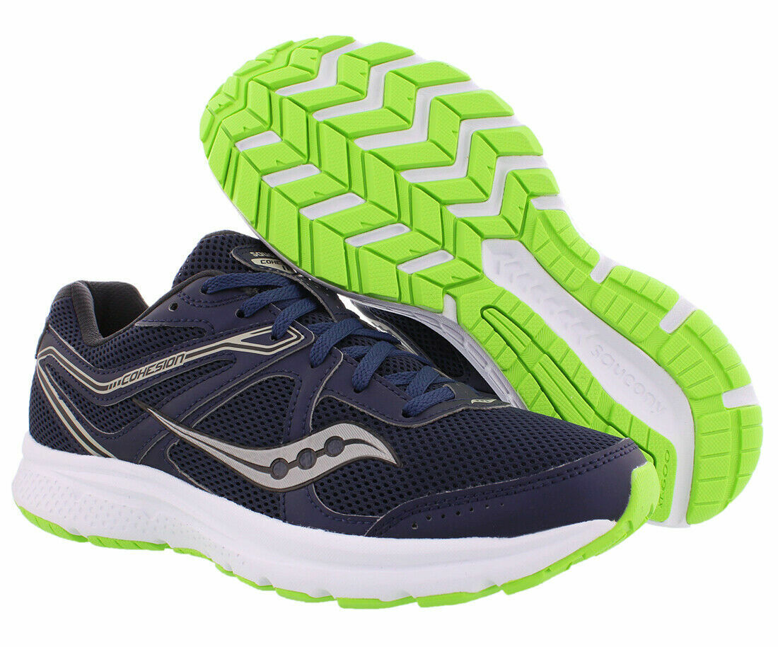 Saucony Men's Cohesion 11 Running Shoes, S20420-1, NavySlime