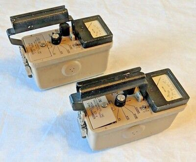 Lot Of 2 Ludlum Model 17-1 Ion Chamber Geiger Counter Radiation Survey Meter