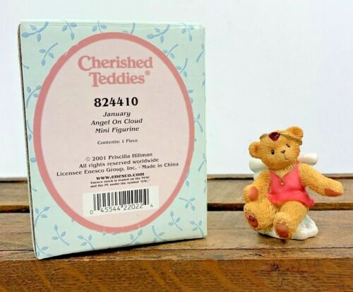 NOS Collectable Cherished Teddies Angel On Cloud Birthday January