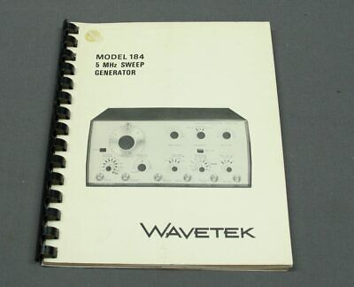 Wavetek 184 Sweep Function Generator Instruction Manual W Schematics