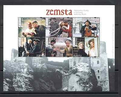 Poland - Souvenir Sheet MNH** and three FDC 2002 Zemsta