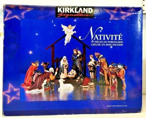 Kirkland Signature 12 Piece Porcelain Christmas Nativity Set NO Wood Structure
