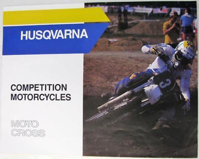 HUSQVARNA Competition Motorcycles Moto-Cross Original Motorcycle Sales Brochure