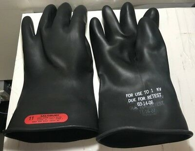 Salisbury Class 0 Rubber Linesmens Electrical Gloves Size 11 Pair
