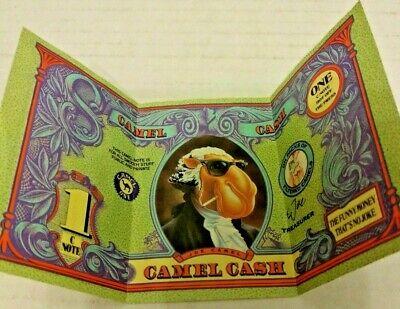 Camel Cash (LARGE 1 C-Note) Tobacco Advertising Memorabilia Joe Camel Vintage