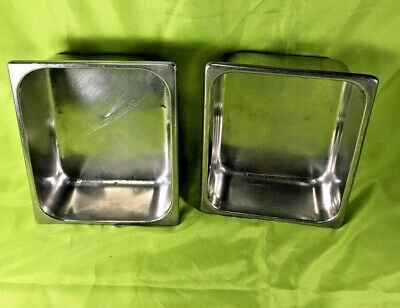 Unbranded 12 Size Stainless Steel Steam Table Pan 4 Deep Lot Of 2