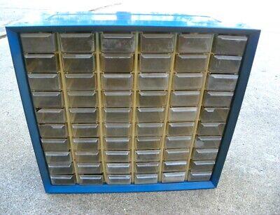 Vintage 60 Drawer Akro-mils Metal Nutbolt Small Parts Storage Cabinet Organizer