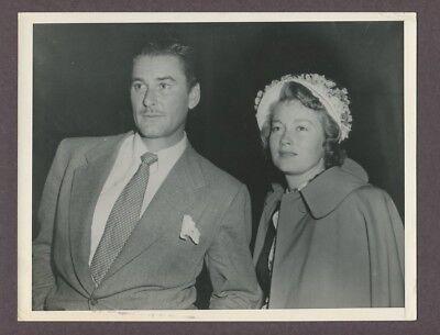 Errol Flynn & Wife Nora Eddington Original Sexy Couple Candid Photo J4833