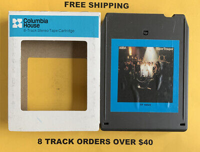 ABBA Super Trouper 8 track tape tested W/ Sleeve