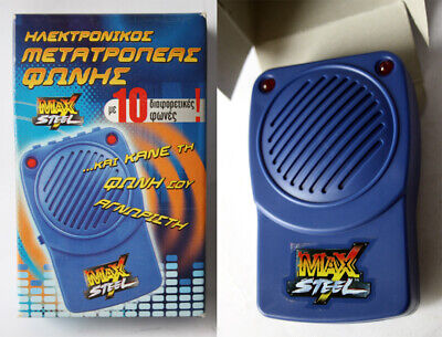 RARE MAX STEEL VOICE CHANGER DEVICE 10 DIFFERENT VOICES NEW IN BOX ! (Voice Changer Device)