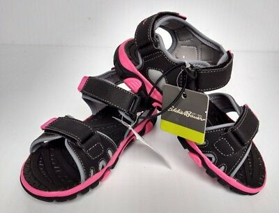 Girls Eddie Bauer Sandals Taylor Style Black Pink - Kids sizes Shoes NEW](Pink Girls Shoes)
