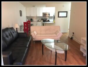 Short Term Rental Furnished 1/2 Bedroom Suite in Burnaby