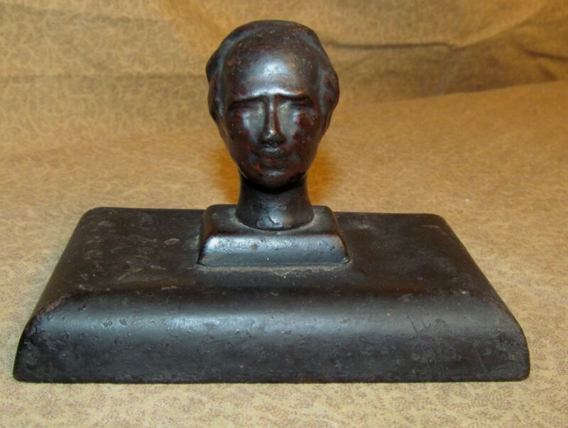 Antique Iron Sculpture or Paperweight