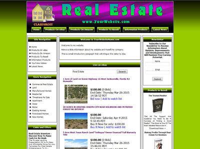 Real Estate Store Ready Made Affiliate Website Ebayamazongoogledropship
