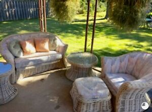 So you always wanted a dreamy white wicker set? This is it!