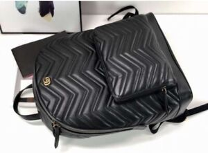 Gucci Backpack real leather exact replica