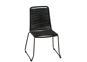 HAGUE OUTDOOR ROPE DINING CHAIR – BLACK