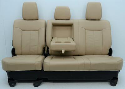 FORD F250 F350 F450 SUPER DUTY LARIAT TAN LATHER REAR SEATS 60/40 CREW CAB