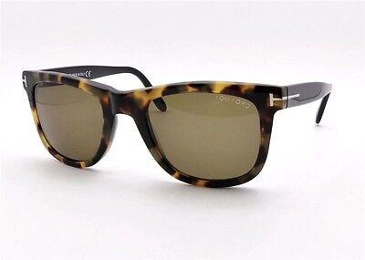 63b2dfe9276 Tom Ford TF 336 Leo 55J Spotted Havana New Authentic Sunglasses rl817