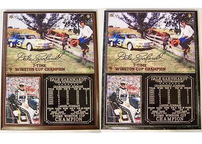 Dale Earnhardt Sr #3 7-Time Winston Cup Champion Photo Card Plaque -