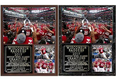 Wisconsin Badgers 2017 Cotton Bowl Classic Champions Plaque