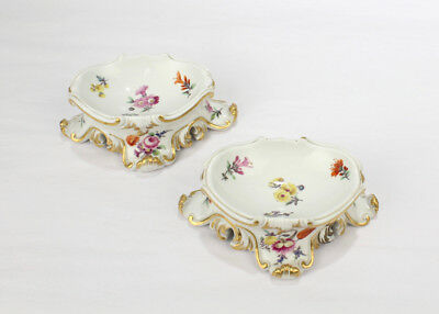 Pair of 18th Century Meissen Porcelain Salt Trenchers or Cellars  - PC Salz