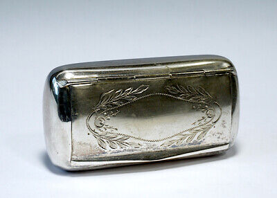 Alpacca Box Tobacco Snuff Stash Pocket Box. Nice Antique Condition