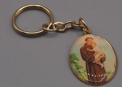 Vintage Religious Key Ring Fob