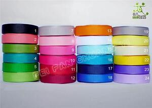 3-8-9mm-5Yard-25Yard-100Yard-Plain-Colors-Grosgrain-Ribbon-24-Colors-Wholesale