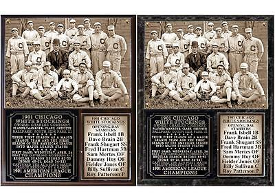 Chicago White Sox 1901 American League Champions Photo Plaque Chicago White Sox Plaque