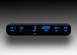 6 Gauge Digital Dash Panel BLUE LED Speedo Tach Volt Oil Temp Fuel UNIVERSAL Kit