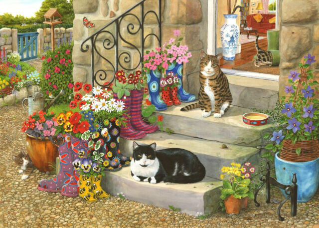 The House Of Puzzles - 500 BIG PIECE JIGSAW PUZZLE - Puss 'n' Boots Big Pieces