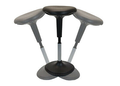 WOBBLE STOOL active sitting balance perch perching stand up standing desk black
