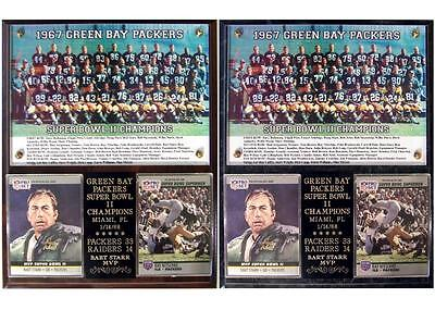Super Bowl Ii Champions Green Bay Packers 33 14 Bart Starr Mvp Photo Card Plaque