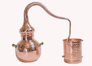 Alembic Copper Still 1.5 Litres, Alcohol Distiller,Hydrosol,Moonshine